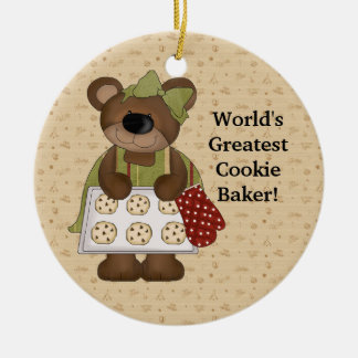World's Greatest Cookie Baker Ceramic Ornament