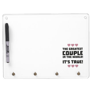 Worlds greatest couple Z8r93 Dry Erase Board With Keychain Holder