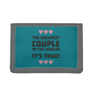 Worlds greatest couple Z8r93 Trifold Wallet