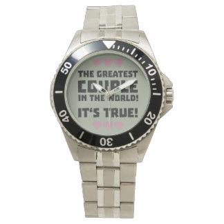 Worlds greatest couple Z8r93 Wrist Watch