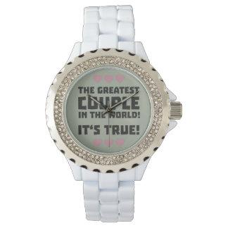 Worlds greatest couple Z8r93 Wrist Watches