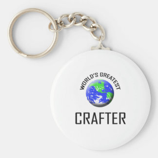 World's Greatest Crafter Keychain