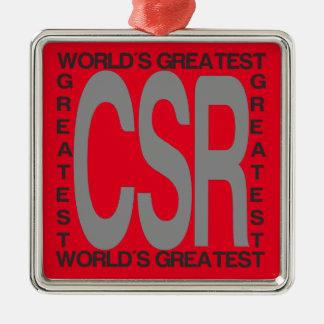 Worlds Greatest CSR Metal Ornament