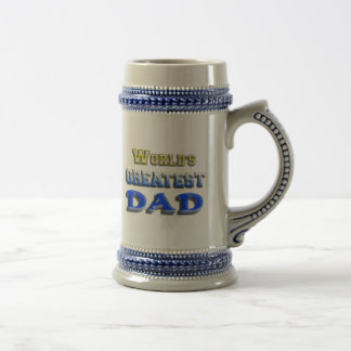 World's Greatest Dad 18 Oz Beer Stein