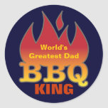 World's Greatest Dad BBQ KING Stickers