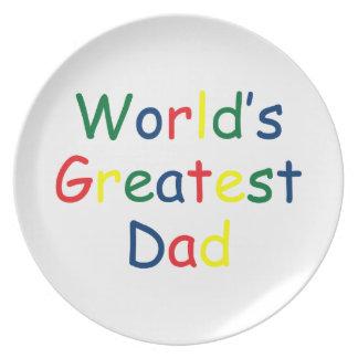 World's Greatest Dad Dinner Plates