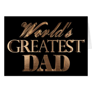 World's Greatest Dad Elegant Text Gold Typography Card