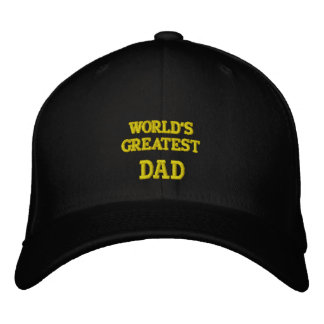 World's greatest Dad... embroidered hat  WOOL