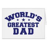 World's Greatest Dad Greeting Card