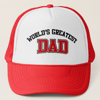 Worlds Greatest Dad Hat Red