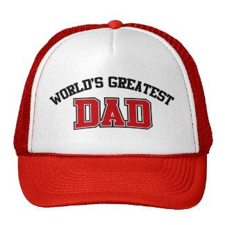 Worlds Greatest Dad Hat Red
