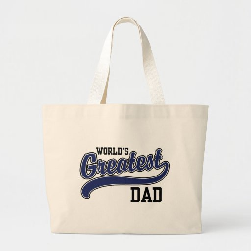 World's Greatest Dad Jumbo Tote Bag