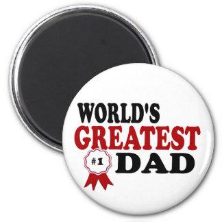 World's Greatest Dad 2 Inch Round Magnet