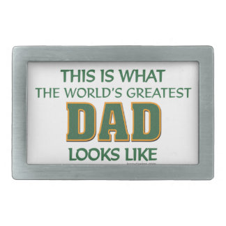 World's Greatest Dad Rectangular Belt Buckle