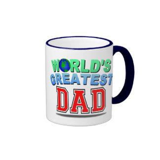 WORLD'S GREATEST DAD RINGER COFFEE MUG