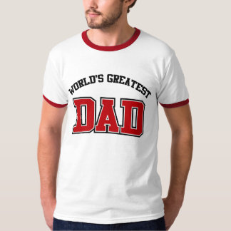 Worlds Greatest Dad Shirt Red