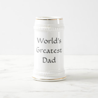 World's Greatest Dad Stein 18 Oz Beer Stein