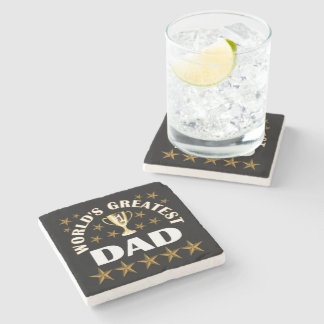 worlds-greatest-dad stone coaster