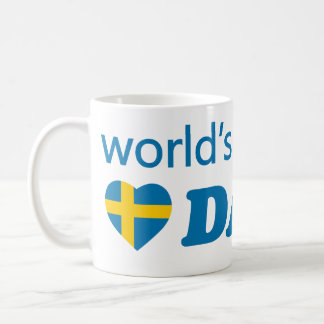 WORLDS GREATEST DAD SWEDEN HEART FLAG COFFEE MUG