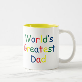 Worlds Greatest Dad Two-Tone Coffee Mug