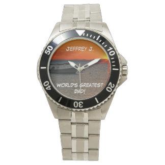 World's Greatest Dad Wrist Watch, Fishing Boat Wristwatches