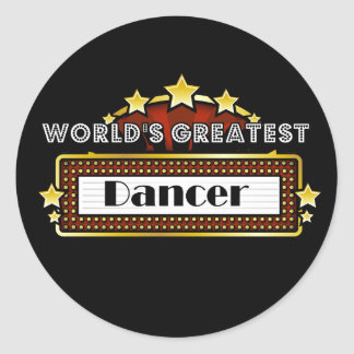 World's Greatest Dancer Classic Round Sticker