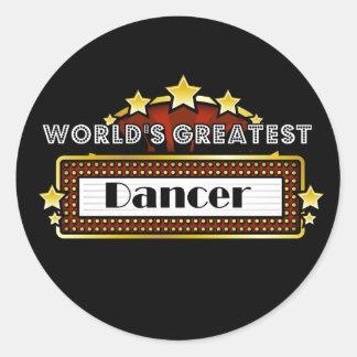 World's Greatest Dancer Round Sticker