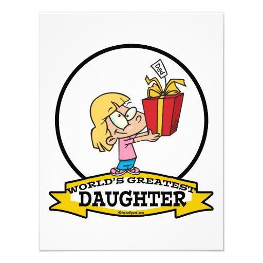 WORLDS GREATEST DAUGHTER II CARTOON INVITATION
