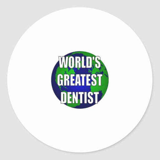 World's Greatest Dentist Sticker