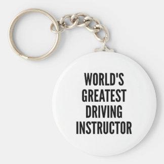 Worlds Greatest Driving Instructor Keychain