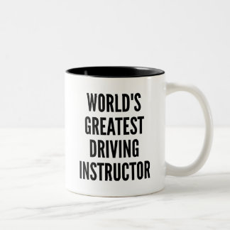 Worlds Greatest Driving Instructor Two-Tone Coffee Mug