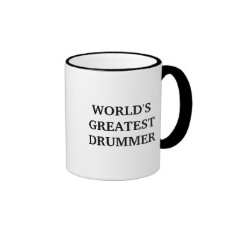 WORLD'S GREATEST DRUMMER RINGER COFFEE MUG
