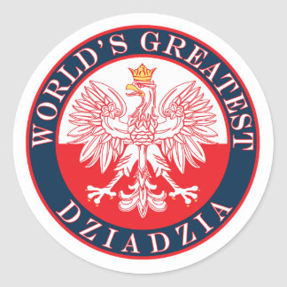 World's Greatest Dziadzia Classic Round Sticker