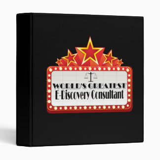 World's Greatest E-Discovery Consultant Binders