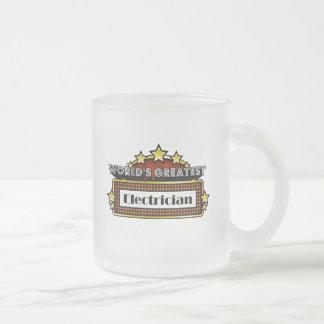 World's Greatest Electrician Frosted Glass Mug