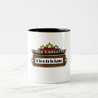 World's Greatest Electrician Two-Tone Mug