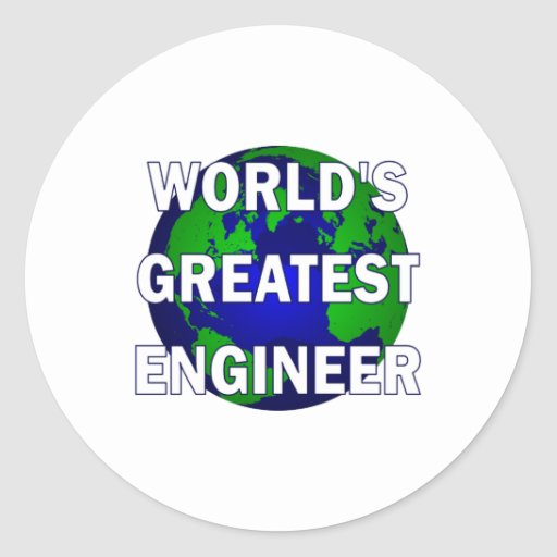 World's Greatest Engineer Stickers