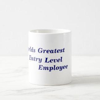 Worlds Greatest Entry Level Employee Basic White Mug