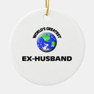World's Greatest Ex-Husband Ceramic Ornament