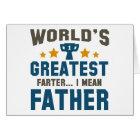 World's Greatest Farter Card