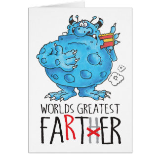 world's greatest farter! card
