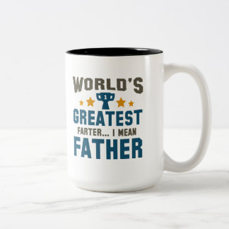 World's Greatest Farter Two-Tone Coffee Mug