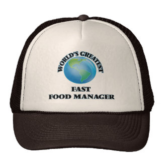 World's Greatest Fast Food Manager Mesh Hats