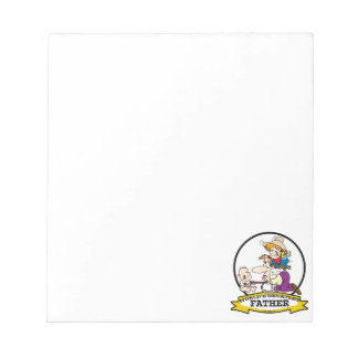 WORLDS GREATEST FATHER MEN CARTOON NOTEPAD