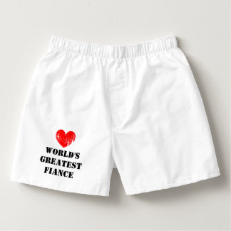World's Greatest Fiance heart boxer shorts for men Boxers