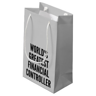 Worlds Greatest Financial Controller Small Gift Bag