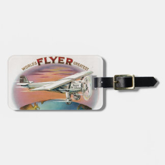 World's Greatest Flyer Vintage Spirit of St. Louis Luggage Tag