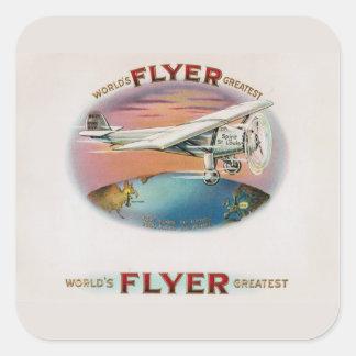 World's Greatest Flyer Vintage Spirit of St. Louis Square Sticker