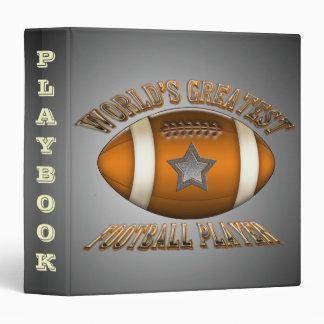 World's Greatest Football Player Playbook Binder