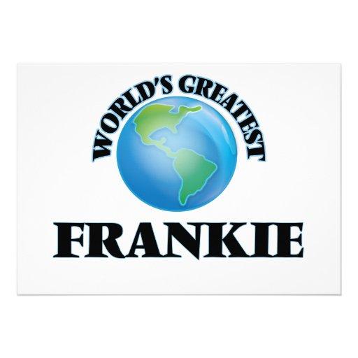 World's Greatest Frankie Custom Announcements